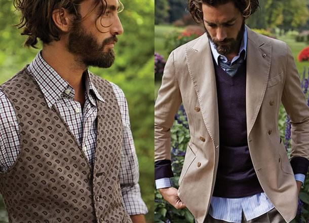 Sự kết hợp giữa các lớp màu, họa tiết và chất liệu sẽ tạo nên phong cách ăn mặc đẹp cho nam giới